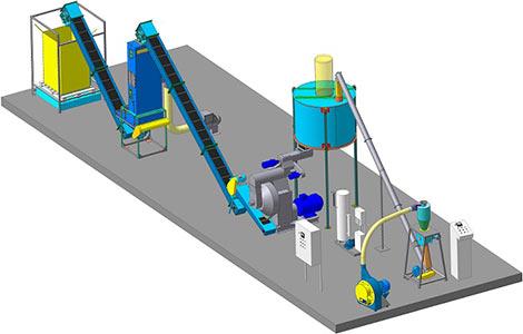 Линия производства гранулированного комбикорма с возможностью изменения рецептуры (ЛПГК)