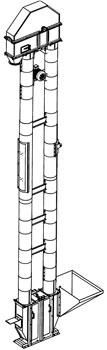 Нория однопоточная (НПК-25 (50))