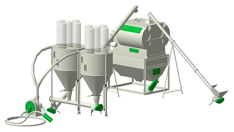 Комплекс приготовления рассыпного комбикорма высокой однородности (КВО)