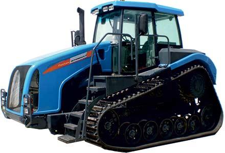 Трактор с треугольным обводом на резиноармированной гусенице (Агромаш Руслан)