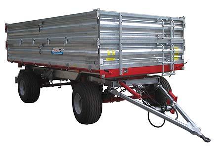 Прицеп сельскохозяйственный двухосный с трехсторонним опрокидыванием (T-104)
