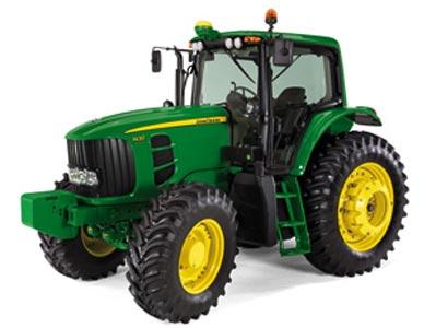 Трактор с регулируемой колеёй (John Deere 7000)
