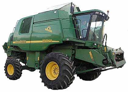 Комбайн зерноуборочный (John Deere 9000 WTS)