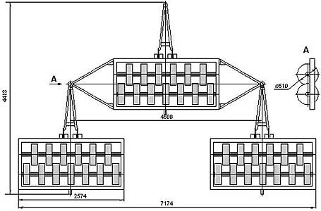 Каток кольчато-шпоровый трехсекционный прицепной (ЗККШ-7)
