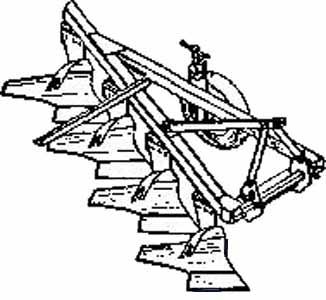 Плуг 2-4-х корпусный навесной (ПМ-2(3, 4)-25)