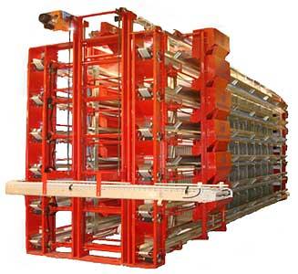 Оборудование клеточное для содержания промышленного стада кур-несушек (КП-112ЛМ)