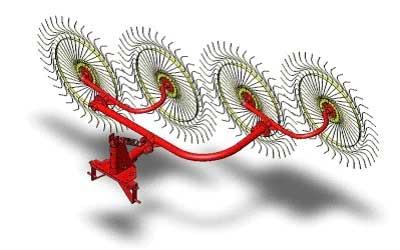 Грабли навесные колесно-пальцевые (Tonutti P)