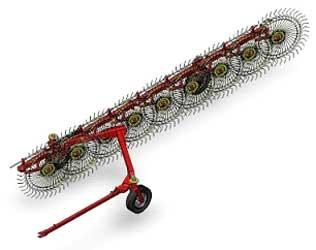 Грабли линейные колёсно-пальцевые (Tonutti T)
