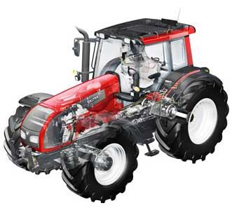 Трактор сельскохозяйственный (Valtra T)