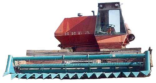 Приспособление для уборки подсолнечника на маслосемена (АУП-5 (6))