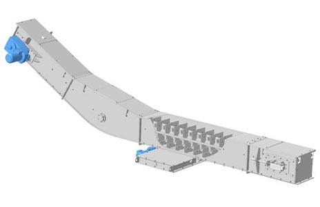 Конвейер с погруженными скребками (2КПС(З)/(ЗС))