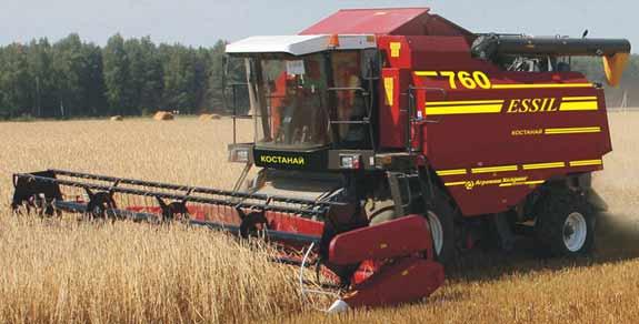 Комбайн зерноуборочный 6-го класса (Essil КЗС-760)