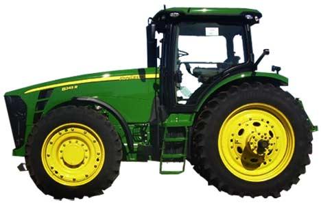 Трактор с регулируемой колеёй (John Deere 8R/8RT)