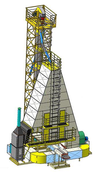 Сушилка зерновая шахтная наборная (СЗШН-5-ТЦ)