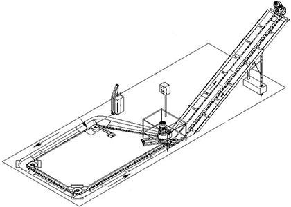 Транспортер навозоуборочный скребковый (КСН-Ф-100)
