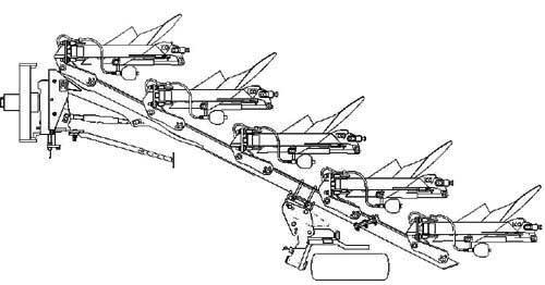 Плуг 2-6-ти корпусной навесной полнооборотный (Super-Albatros)