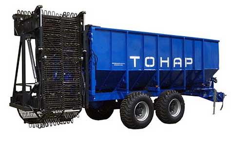 Прицеп тракторный с донным транспортёром (Тонар ПТ-4)