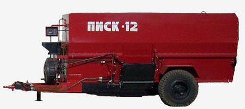 Измельчитель-смеситель кормораздатчик прицепной (ПИСК-12)