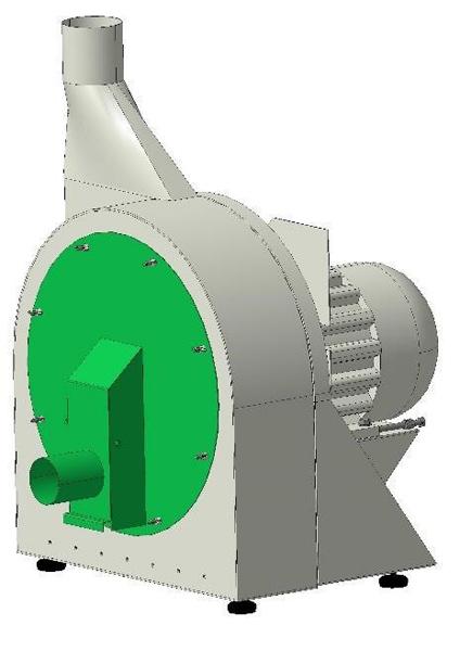 Зернодробилка с пневмозагрузкой (ДКР)
