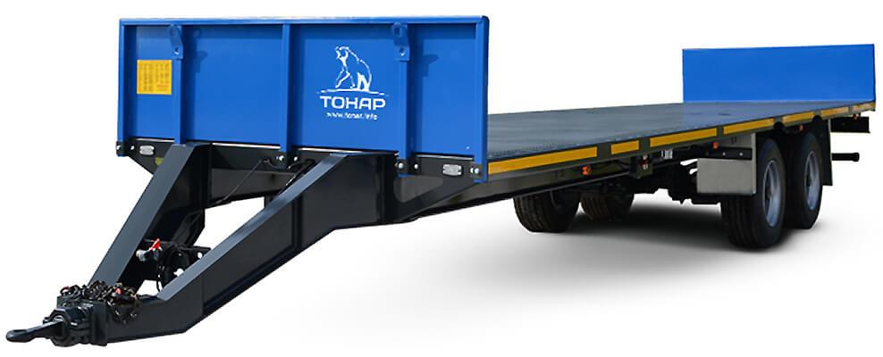 Прицеп для перевозки овощных контейнеров и цилиндрических тюков сена (соломы) (ПТ-7)