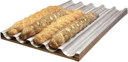 Лист волнистый перфорированный выпечки багетов (Техлен)