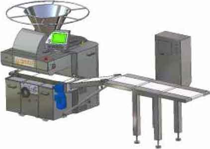 Тестоделитель вакуумно-поршневой автоматический с ленточными весами (Kras ATT)