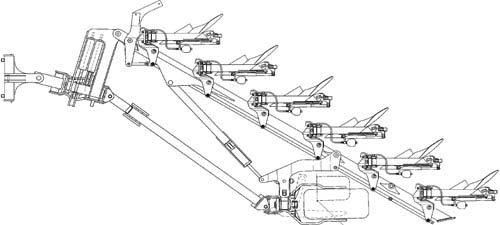 Плуг 5-9-ти корпусной полунавесной полнооборотный (Kormoran)