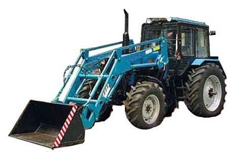 Погрузчик на базе трактора Беларус-1221 (Елазовец)