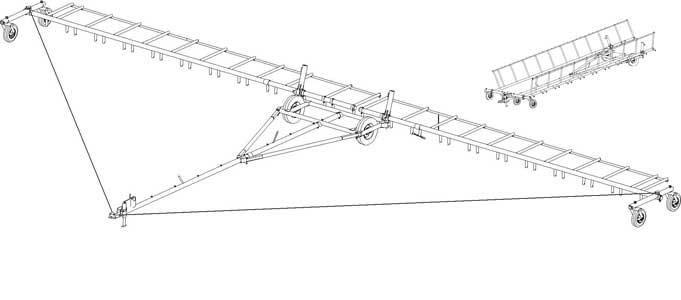 Сцепка бороновальная широкозахватная гидрофицированная (СШГ)