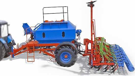 Сеялка прицепная зерновая пневматическая анкерная (Донэйр-А)