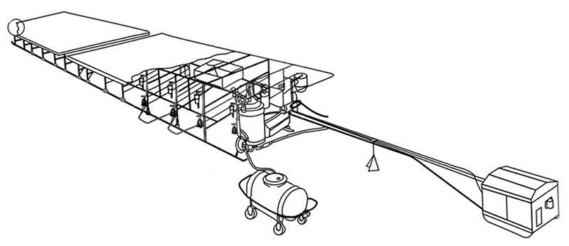 Установка доильная (УДС-3Б (молокопровод))
