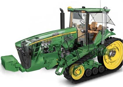 Трактор гусеничный универсально-пропашной (John Deere 8030T)