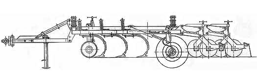Агрегат почвообрабатывающий широкозахватный (Орикон А-6)