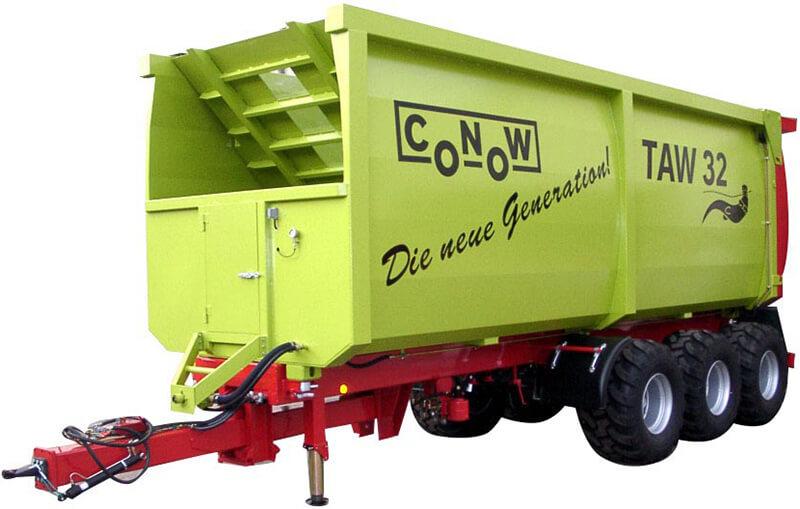 Прицеп с выдвижной стенкой (Conow TAW)