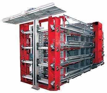 Оборудование клеточное для содержания промышленного стада кур-несушек (КП-12ЛМ)
