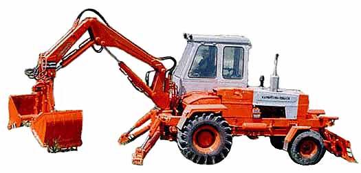 Погрузчик-экскаватор автономный (самоходный) грейферный (ПЭА-1А)