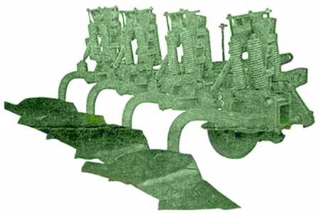 Плуг 4, 7-ми корпусный навесной (ПГП-4 (7)-40-Б2)