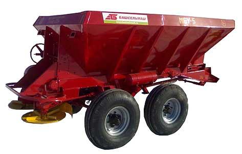 Машина для внесения минеральных удобрений и извести (МВУ-5)