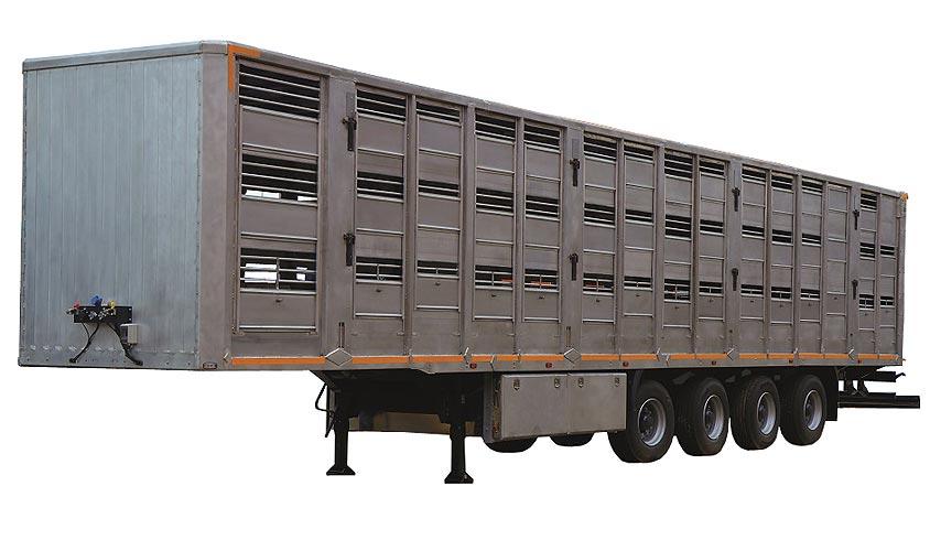 Полуприцеп для перевозки свиней в 3 яруса (Тонар-98271 (9827))