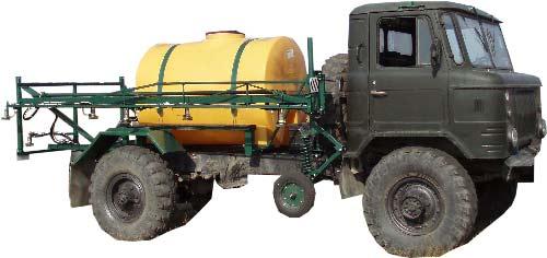 Опрыскиватель малообъемный на базе ГАЗ-66 (Виктория)
