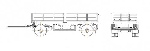 Прицеп автомобильный (Нефаз-8332)