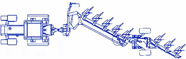 Плуг 6-10-ти корпусной полунавесной полнооборотный (Marabu)