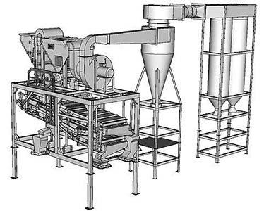 Машина зерноочистительная (воздушно-решетный сепаратор или фракционер) (ЗМ)