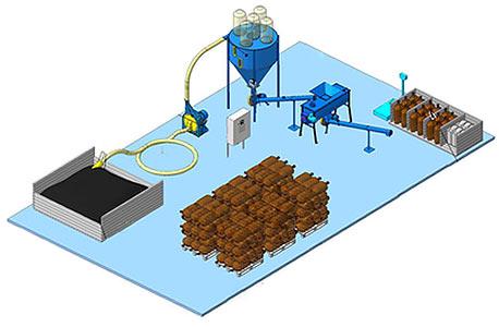 Линия приготовления белково-витаминно-минерального концентрата (ЛБВМК)