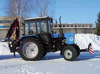 Кран-манипуляторная установка на базе трактора Беларус 82.1 (КМУ)