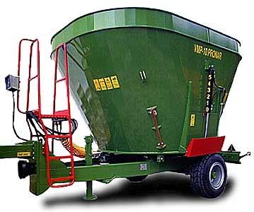 Измельчитель-смеситель раздатчик кормов мобильный (VMP-10)