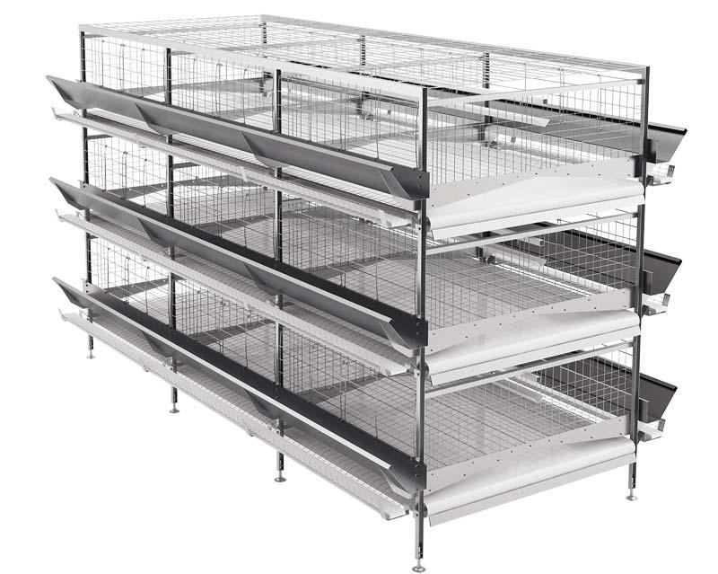 Оборудование клеточное для содержания промышленного стада кур-несушек (GOLIAF)