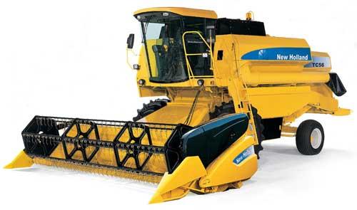 Комбайн зерноуборочный (New Holland TC 56)