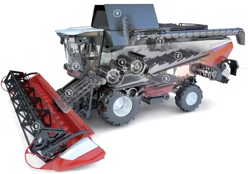 Комбайн зерноуборочный (RSM 161)