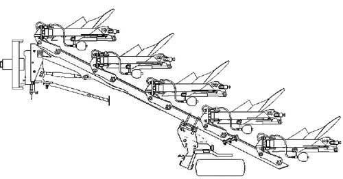 Плуг 3-5-ти корпусной навесной полнооборотный (Albatros)